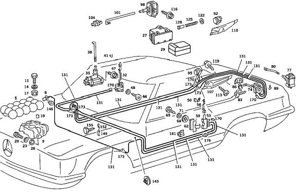mercedes benz parts schematics