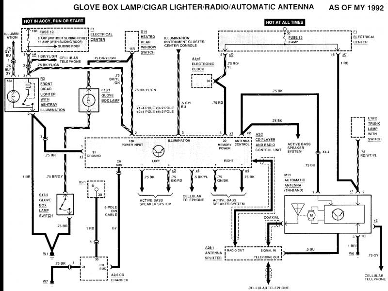 11 Pin Relay Schematic Diagram Power Antenna Trigger Wire Mercedes Benz Forum