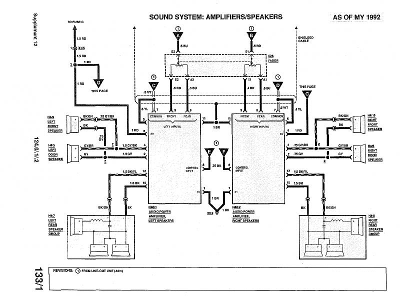 95 Mercedes Bose Amp 140 Wire Diagram : 37 Wiring Diagram