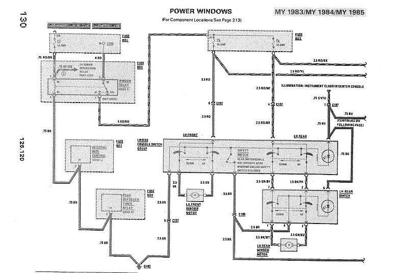 wiring diagram for window motor