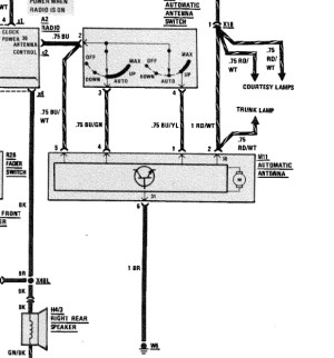 auto antenna wiring diagram  MercedesBenz Forum