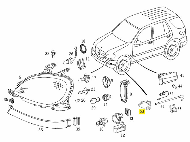 stereo wire harness diagram for 2001 ml320
