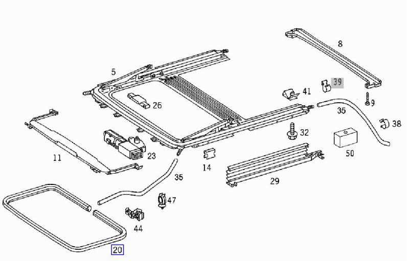 Mercedes Sunroof Parts Diagram • Wiring Diagram For Free