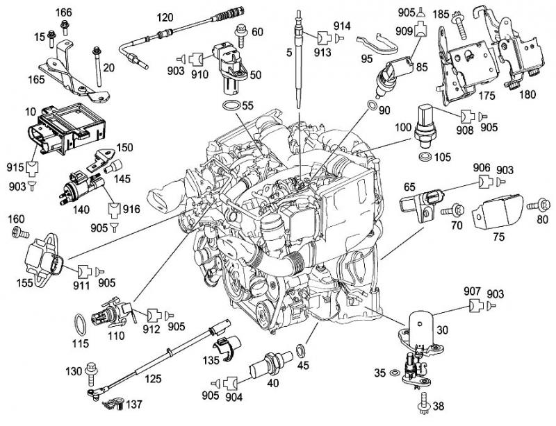 2007 mercedes e350 engine diagram