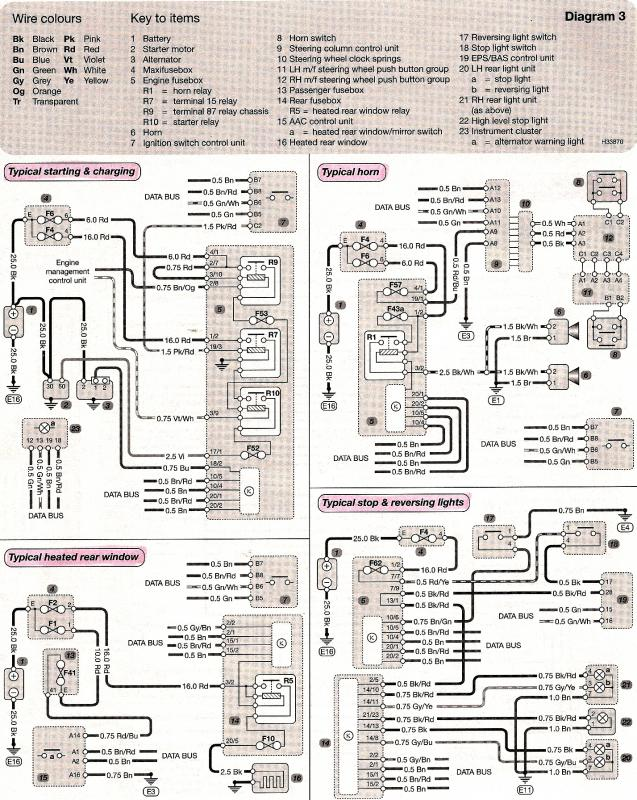 Wiring Diagram Heated Rear Window And Stop & Reversing Lights