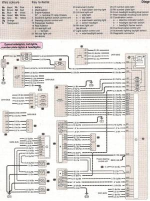 Wiring diagram Sidetailnumber plate headlights