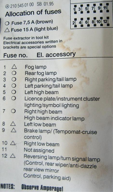 1999 taurus fuse box diagram 7 way rv trailer plug wiring 99 e320 compressor does not engage - page 3 mercedes-benz forum