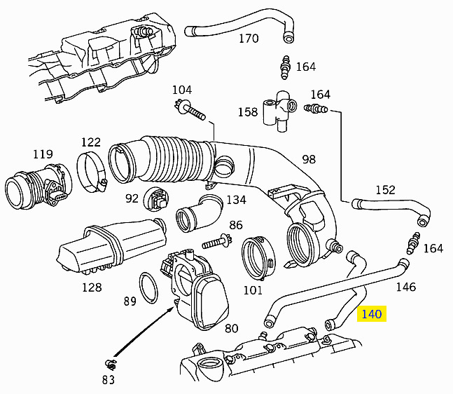 2007 Mercedes sprinter egr valve location
