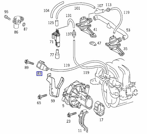 Mercedes w212 boost pressure sensor location
