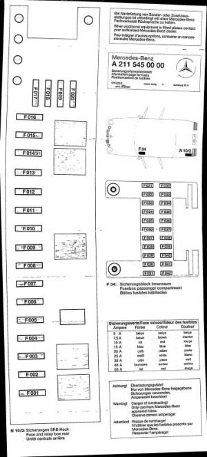 2004 E500 Fuse Diagram  Not in Fuse Box  MercedesBenz Forum