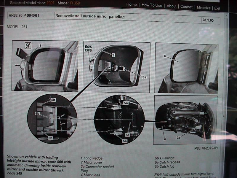 ford audio wiring diagram f150 harness how to change bulbs in sideview mirrors - mercedes-benz forum