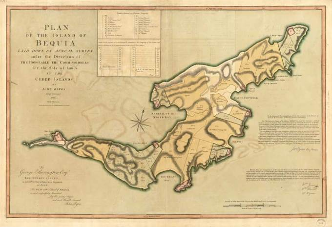 Bequia Map 1771