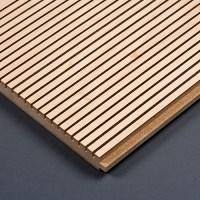 Geschlitzte Akustikplatten Holz