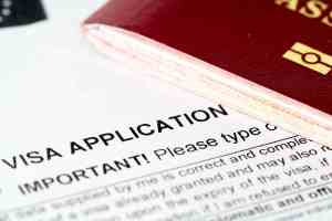 europe union visa application form with passport