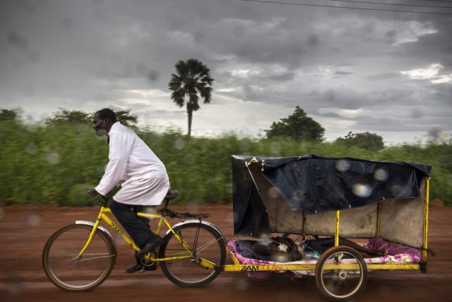 Dismuss and His Malaria Ambulance, 2014 - Chongwe, Zambia  Image credit: Brent Stirton / Wellcome Photography Prize 2019