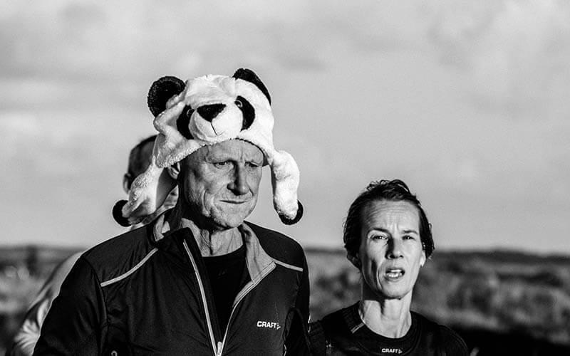 Deelnemers van de hele marathon tijdens de Berenloop 2016.