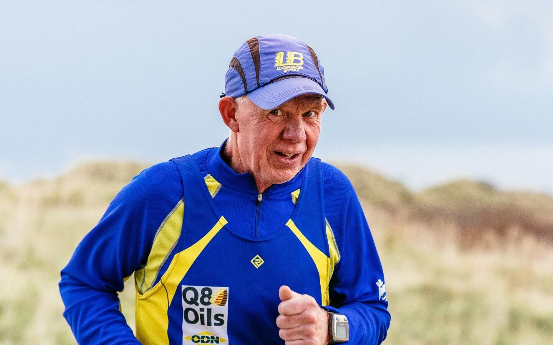 Peter van der Hulst op de Longway tijdens de Berenloop 2017.