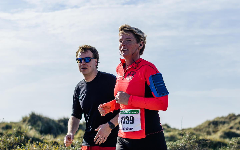 Berenlopers tijdens de 10 kilometer van de Kleintje Berenloop 2018.