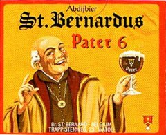 An old advertisement featuring St. Bernardus