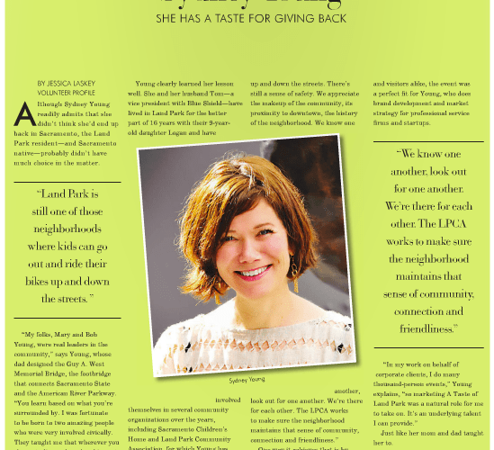 In Our Midst: Parent Sydney Young featured in Inside Land Park June edition!