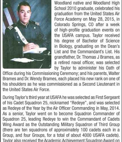 Living the Mission: WMS Alumnus Taylor Brames graduates from USAF Academy with honors!