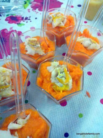 atelier cuisine bébé plat orangé