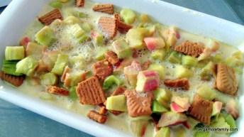 gratin de rhubarbe et spéculoos omnicuiseur - bergamote family (2)