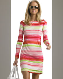 Michael Kors Hand-Painted Rainbow Dress