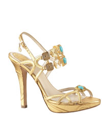 Dior Jeweled Platform Sandal