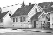 Otto Simonsens hus i Damsgårdsveien ved Damsgårdsstuene til høyre.