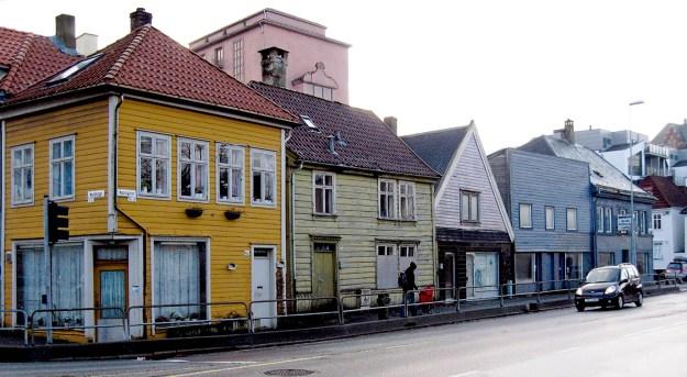 Husrekken Nøstegaten 39-45 - unik byhistorie reddet i siste liten. Fotograf: Norvall Skreien.
