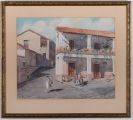 "<h5>""Mexican Scene"" by Bird Spencer Newman (1939)</h5><p>Approx. 17""x21""; Watercolor on paper BMAS 1065</p>"