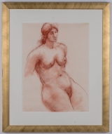 "<h5>""Nude Woman"" by R. Nicholas [?] (N/D)</h5><p>Approx. 18""x24""; Pastel on paper BMAS N/N</p>"