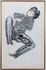 "<h5>""Debra"" by Hurewitz [?] (N/D)</h5><p>Approx. 25""x40""; Serigraph on paper BMAS 1069</p>"