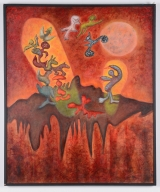 "<h5>""Earth Deities"" by Irene Christensen (1994)</h5><p>Approx. 42""x51""; Oil on canvas BMAS 1156</p>"