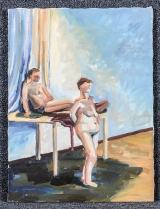 "<h5>""Untitled [Two Nude Figures]"" by Unknown (N/D)</h5><p>Approx. 18""x24""; Oil on canvas BMAS 1118</p>"