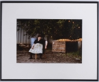 """<h5> """"Untitled [Woman Selling Fruit]"""" by Denise Hesse (N/D)</h5><p>Approx. 9″x14″; Cibachrome BMAS 1014</p>"""