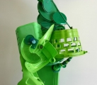 """<h5>Green Form</h5><p>12""""x18""""x40""""  Collected plastic, metal and hardware </p>"""