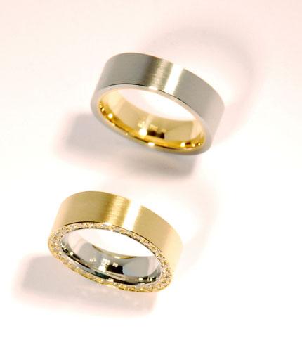 Hochzeitsringe Gold Diamant  Hochzeit