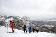 Ski-Expedition Kamtschatka: Spuren