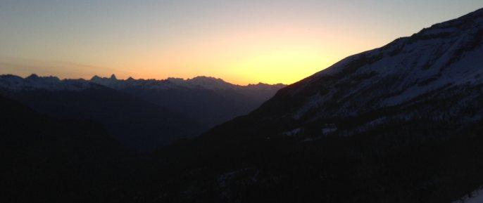 Südtiroler Bergführer Ausbildung / Sonnenaufgang