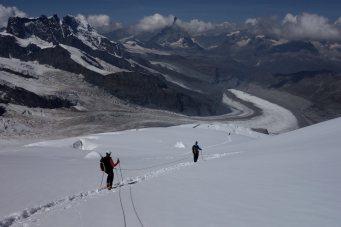 Hochtour Dufourspitze / Grenzgletscher