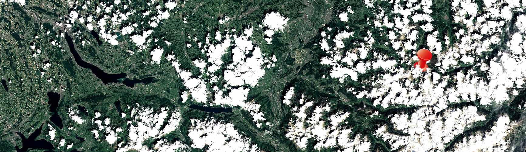 Satelitenbild Sommer Frühling | Planen Sie Ihre Anreise auf den Arlberg | Lage | Europa | Austria | Vorarlberg | Lech