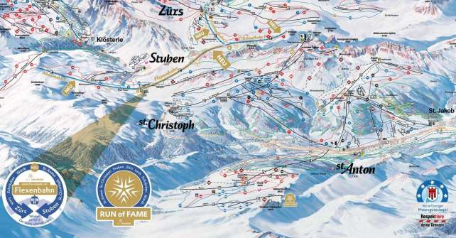 connecting villages which already have been connected with the same ski pass - the Arlberg