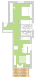 floor plan holiday apartment 'Steinrosle'