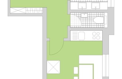 Grundrissdarstellung Appartement Ferienwohnung für max 4 Personen Steinrösle - Direkt an der Skipiste in Lech am Arlberg