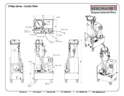 BCF Series Candle Filter, Bergman Industrial Filters
