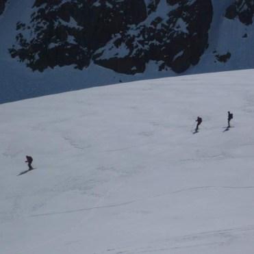 Abfahrt auf dem Gletscher