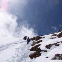 Abstieg oberer Gipfelhang
