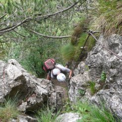 Kurze Klettersteigpassage